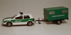 VW Golf IV + Anhänger Polizei Hundestaffel